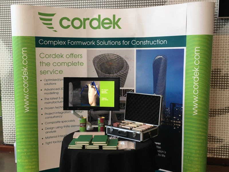 Cordek were pleased to exhibit and present at the Evolving Concrete Exhibition held at the Madejski