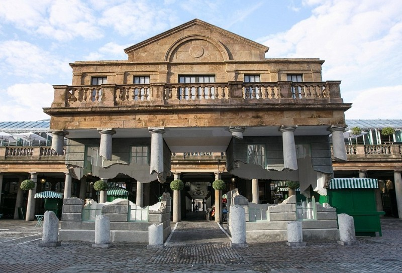 Cordek helps artist realise vision of Floating house in London's Covent Garden