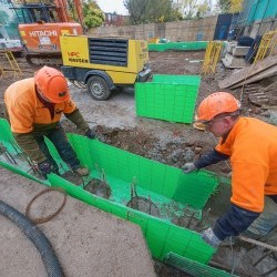 Permanent Formwork for Groundbeams - Lonsdale Road
