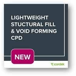 Cordek launches NEW Lightweight Structural Fill & Void Forming CPD