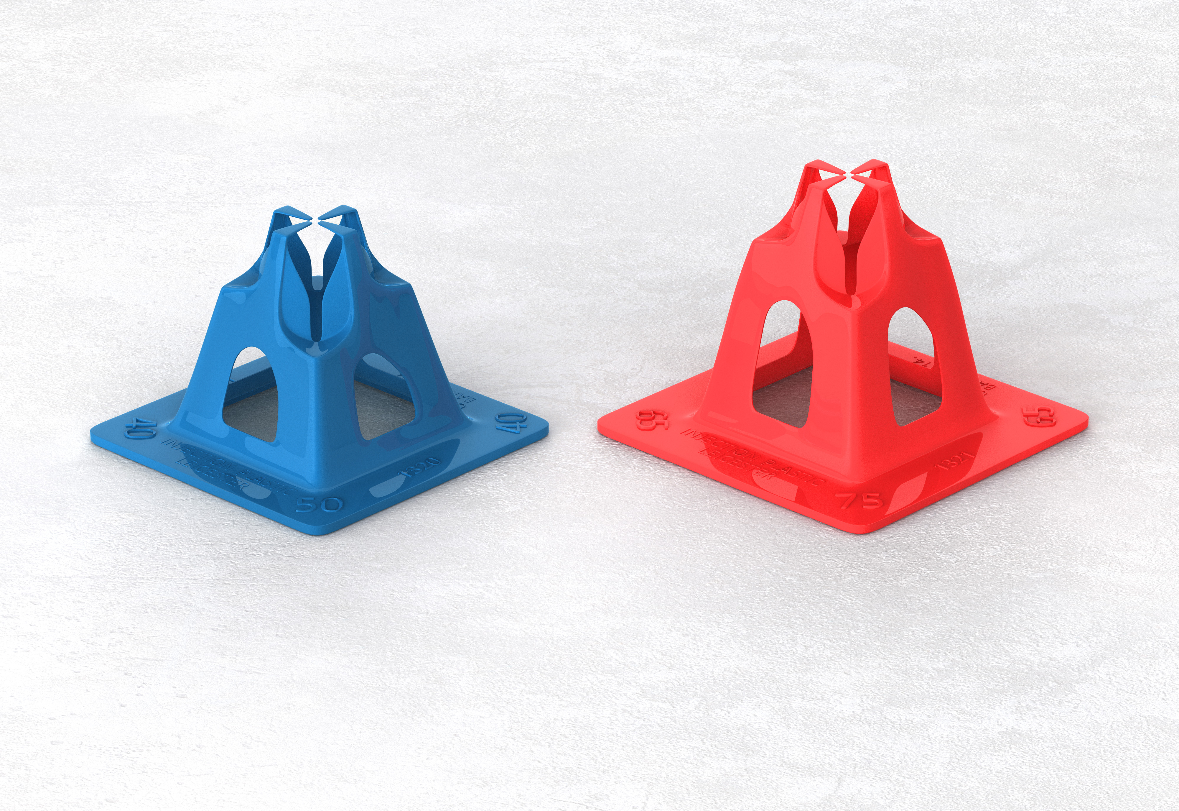Concrete Form Spacers : Reinforcement spacers gripper and tric trac cordek